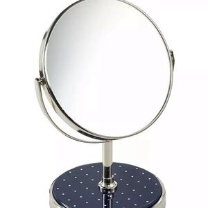 Kate Spade Navy Polka Dot Vanity Mirror